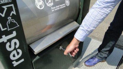 palensleutel voor ondergrondse vuilcontainers