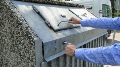 palensleutel voor vuilcontainers